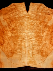 31  maple burl droptop thickness 8mms € 90,--sold